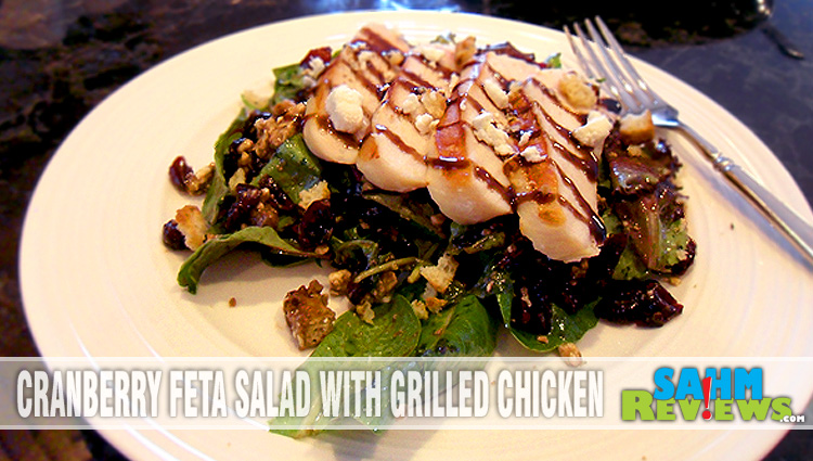 Cranberry Feta Salad with Grilled Chicken