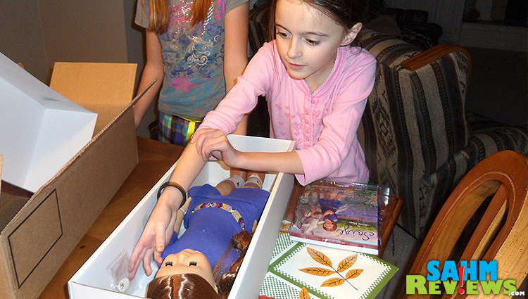 American Girl Opening the box