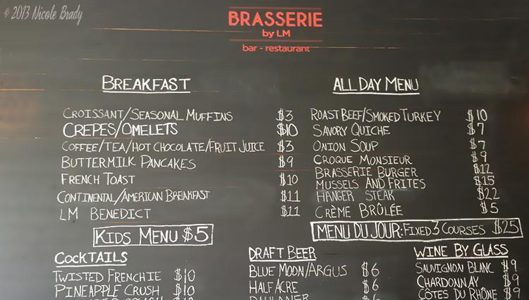 Essex Inn - Blackboard