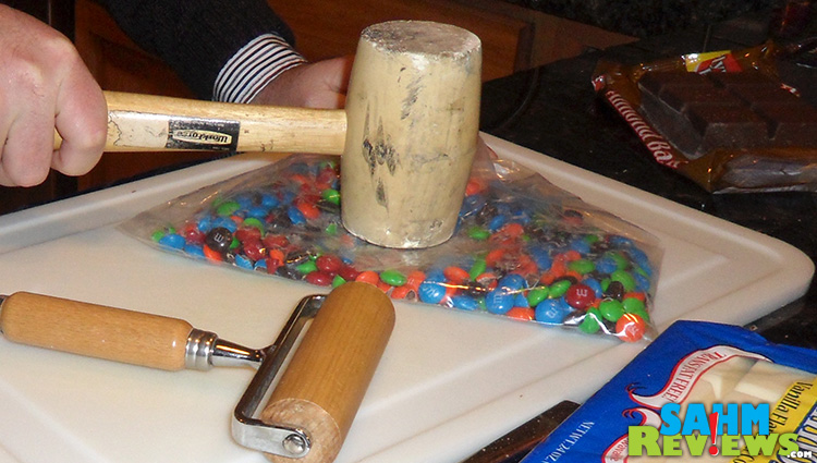 Chocolate Covered Ritz & Peanut Butter with M&M's Smashing #shop #bakingideas