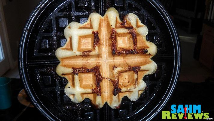 Cinnamon Roll Waffles - Freshly Cooked