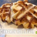 Cinnamon Roll Waffles - Hero