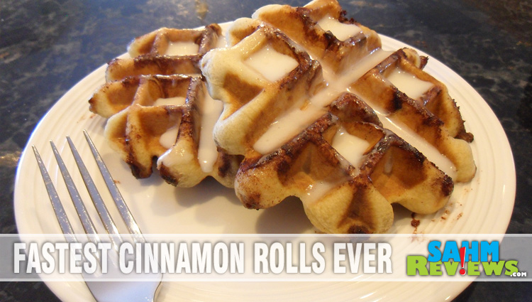 Snow Day Cinnamon Roll Waffles