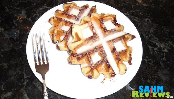 Cinnamon Roll Waffles - Plated