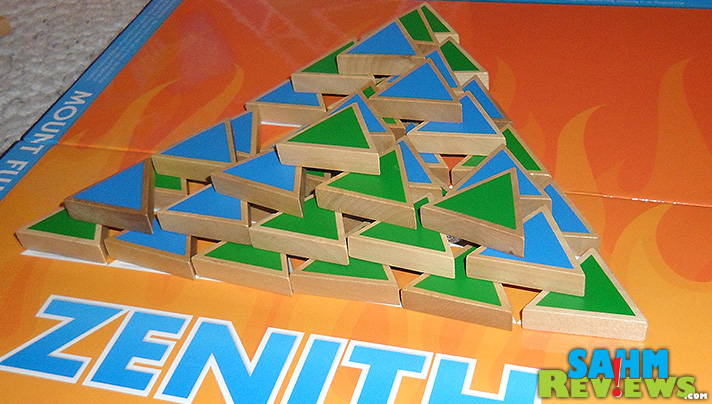 Zenith Strategy Game - Pieces Stacked High