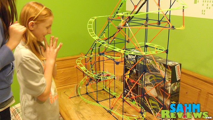 K'Nex Roller Coaster - In Action - SahmReviews.com