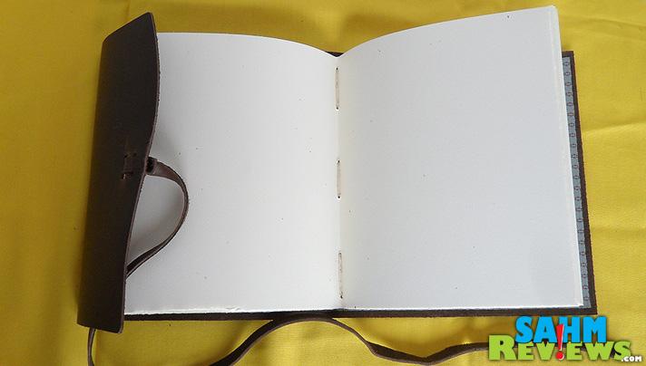 Rustico Leather Journal Open - SahmReviews.com