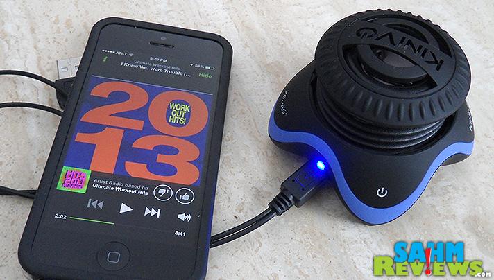 Kinivo Speaker - Hooked to iPhone