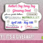 Stop by SahmReviews.com to enter this great giveaway which includes a Coach Crossbody Handbag!