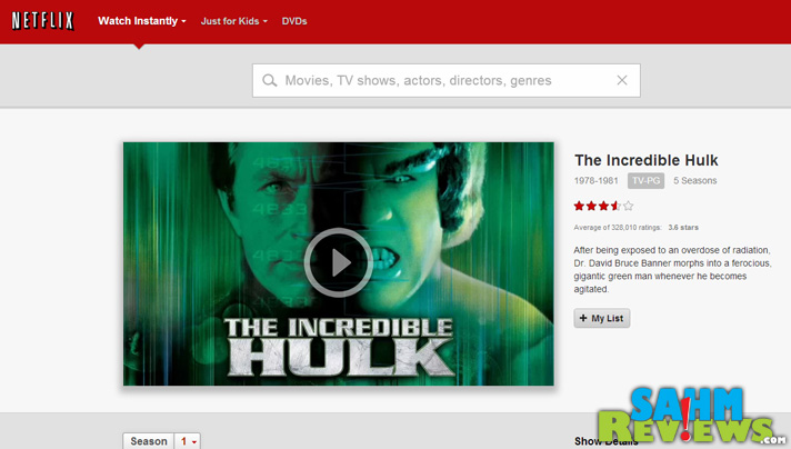 """Classic TV shows are back in style like the original """"The Incredible Hulk"""" series! You can stream them on Netflix. #StreamTeam - SahmReviews.com"""