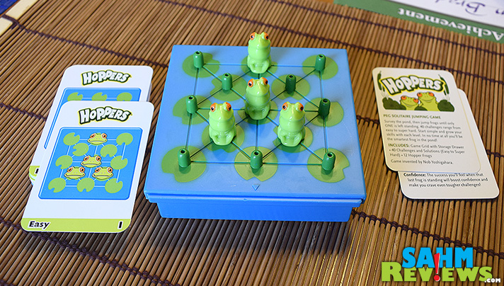Got a few minutes to spare? Play a quick solitaire game of Hoppers by Think Fun - SahmReviews.com