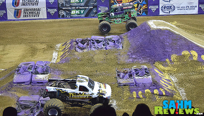 Monster Jam includes a variety of action-packed entertainment including ATVs, stunt cycles and monster trucks.