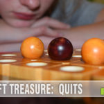 Quits is a wooden strategy game for 2-4 players and you'll never have the same game twice! - SahmReviews.com
