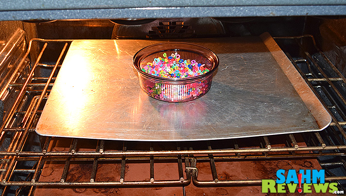 Creating a bead bowl is very easy and repurposes those unused melty beads! - SahmReviews.com