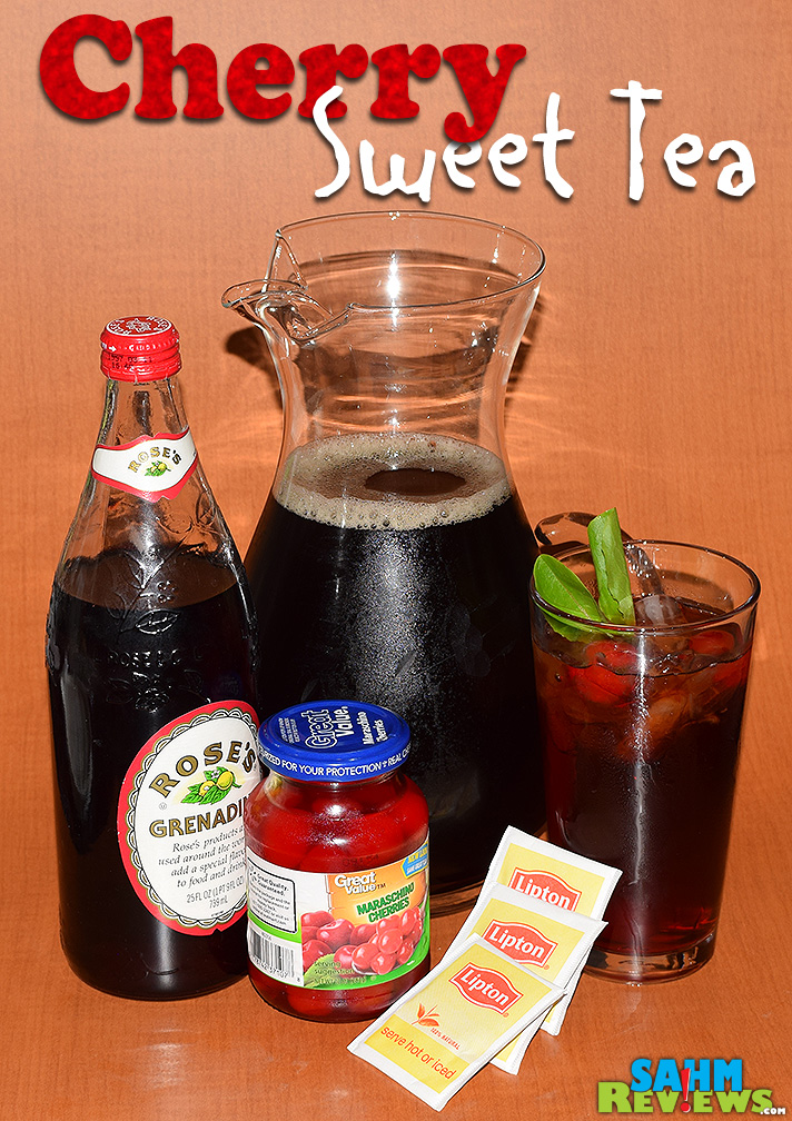 Cherry Sweet Tea pairs great with rotisserie chicken salad. - SahmReviews.com