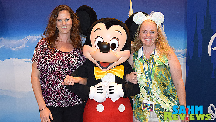 Hanging with Mickey Mouse and my good friend, Michelle at #DisneySMMoms #DisneyOTR Chicago. - SahmReviews.com