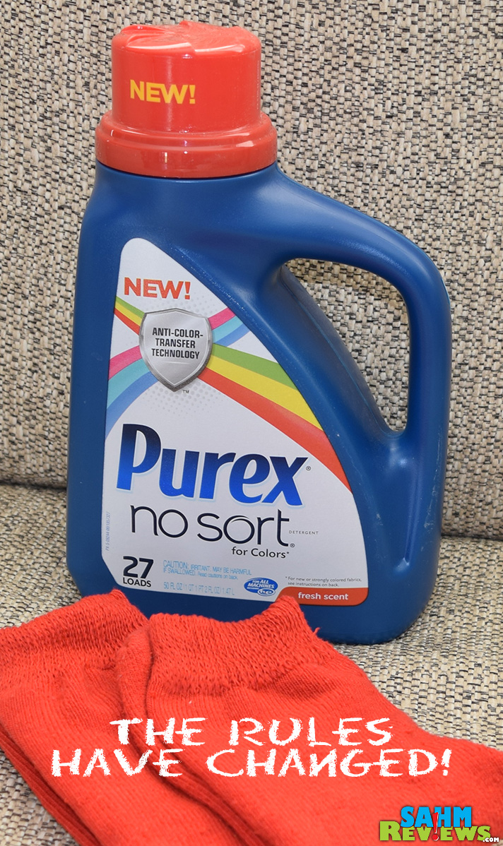 Stop sorting laundry by using Purex No Sort to prevent color bleeding accidents! See how SahmReviews.com feels about this!