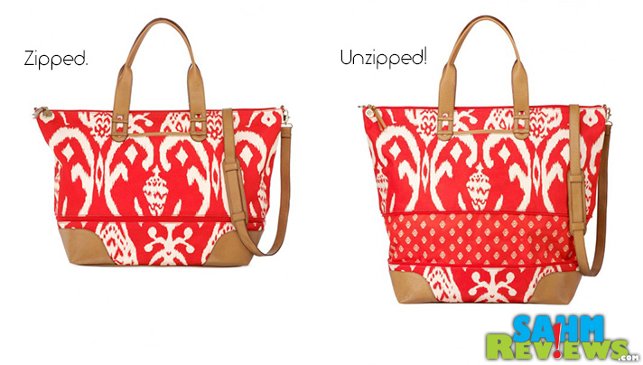 This adorable Stella & Dot bag expands with one simple unzip! - SahmReviews.com #fashion #accessories