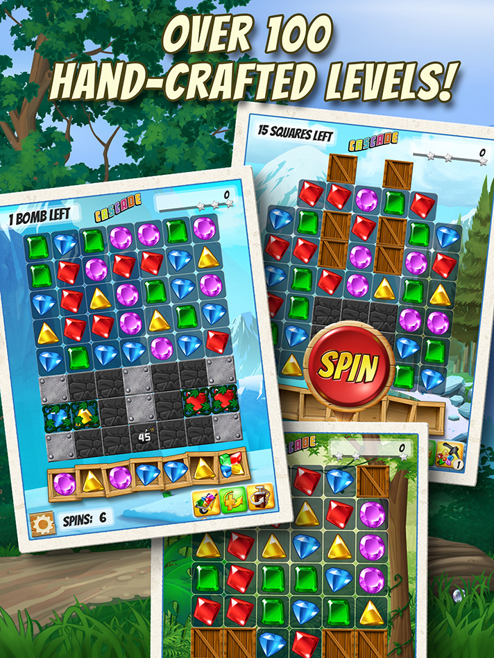 A cross between slots and match-3, Cascade by Big Fish Games offers over 100 different puzzles! - SahmReviews.com