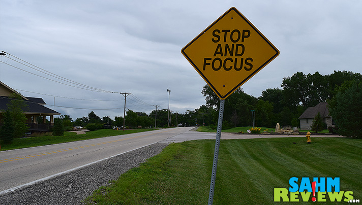 Don't be a distracted driver. Stop and focus on the road. - SahmReviews.com #DecideToDrive