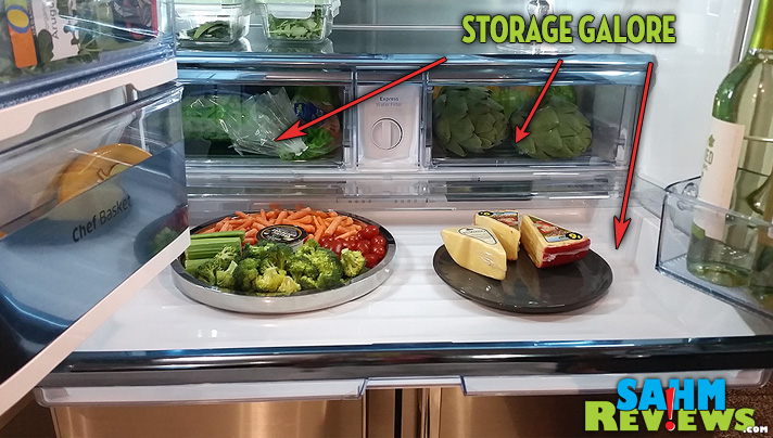 No food cuddling in this Chef Collection fridge from Samsung! Serious spaciousness with a whole list of other cool features. - SahmReviews.com #MasterYourHome