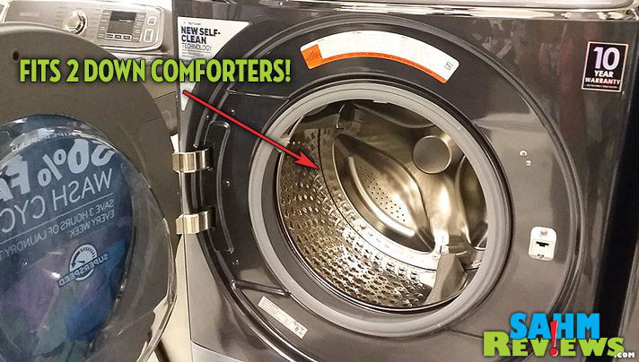#MasterYourHome with Samsung Home Appliances! The washer boasts the ability to fit TWO down comforters! - SahmReviews.com