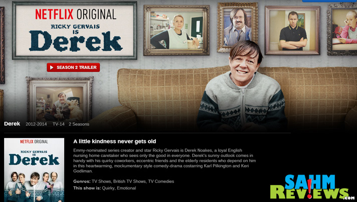 The Netflix original, Derek, isn't like any other Ricky Gervais show! - SahmReviews.com #StreamTeam