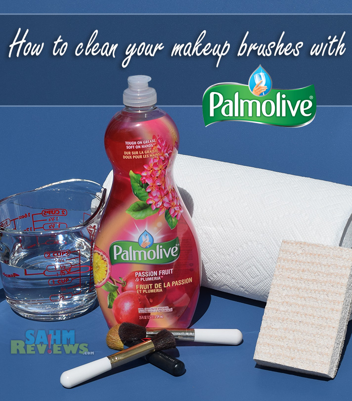 DIY: Clean your makeup brushes with items you already have in your kitchen. - SahmReviews.com #PalmoliveWM