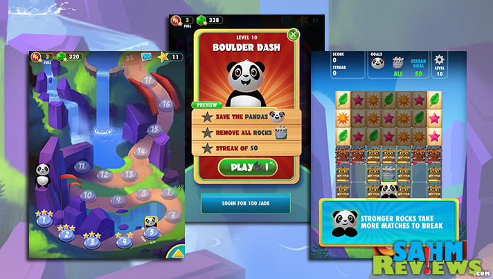 Challenge yourself with Panda Pandamonium, a FREE Mahjong-inspired app. - SahmReviews.com #app #game