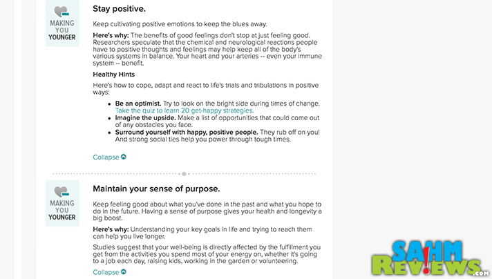 Having a positive attitude can take you a long way. Literally. - SahmReviews.com #RealAge