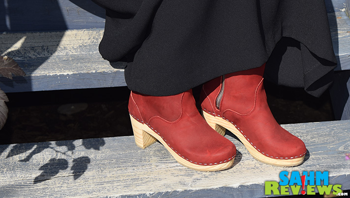Sandgrens High Heel Clog Boots are versatile and cute! Wear them with jeans, slacks or a skirt. - SahmReviews.com @Sandgrens