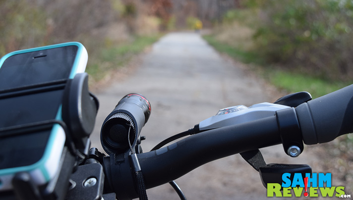Good lighting is always a must, whether riding in the day or at night. This bike light from Divine LED will light your way! - SahmReviews.com