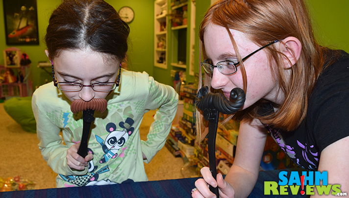 We initially dismissed this game as too juvenile. Little did we realize our girls didn't see it the same way. Check out Moustache Smash from Spin Master Games. - SahmReviews.com