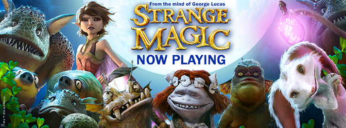 Lucasfilm Strange Magic opened in theaters January 23, 2015. - SahmReviews.com #StrangeMagic