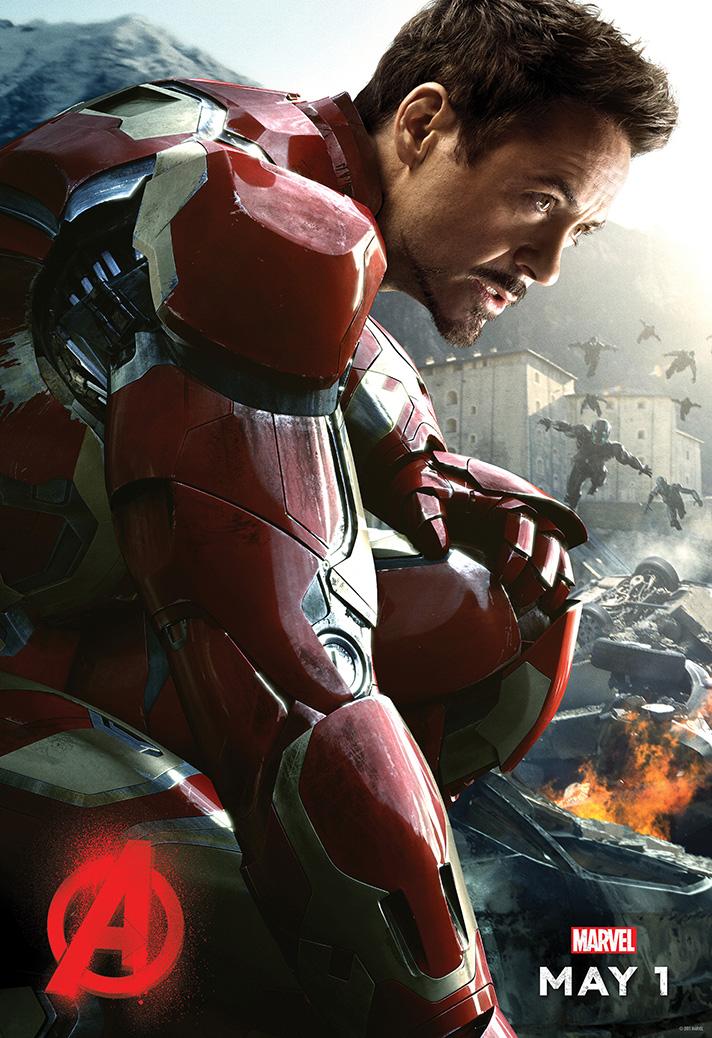 Robert Downey Jr stars as Iron Man in Avengers: Age of Ultron. - SahmReviews.com #Avengers #AgeofUltron