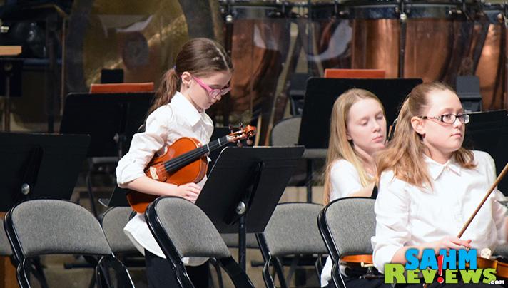 Miss K getting ready to perform with the Quad City Symphony. - SahmReviews.com
