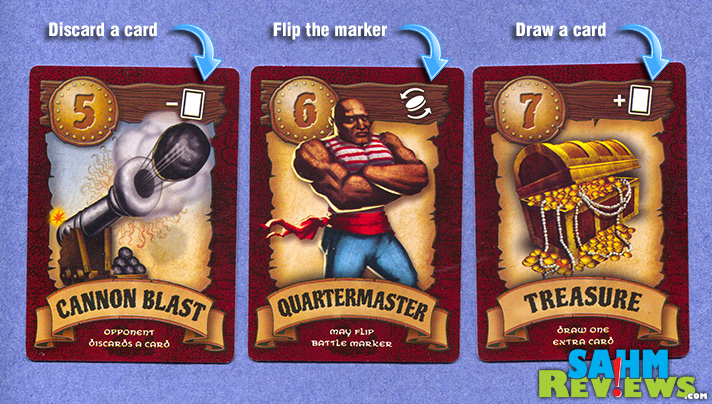 """We love """"War"""", the classic card game played with a regular deck of cards. TacDex: Pirates takes the battles to a whole new level with special cards! - SahmReviews.com"""