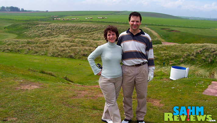 Colin Phillips, Arccos Golf, and his wife Elizabeth as they golf in Scotland. - SahmReviews.com