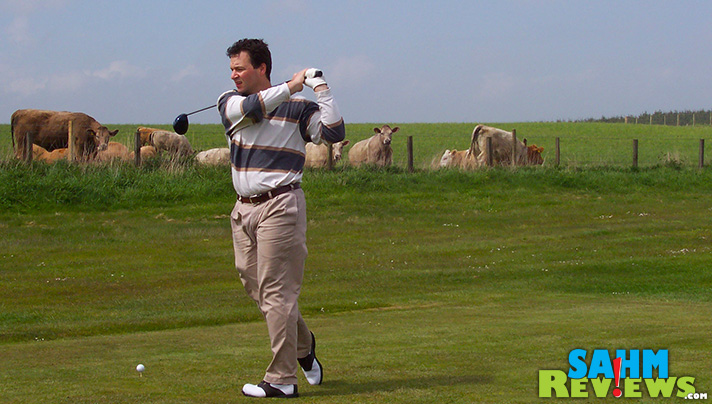 Colin Phillips, Arccos Golf, playing a round in Scotland. - SahmReviews.com