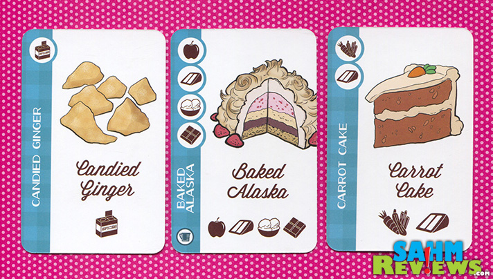 Just Desserts cards provide ingredients to serve to guests. - SahmReviews.com