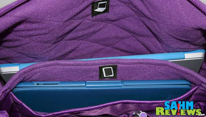 Padded technology compartments in a gym bag? YES! From work to gym without restocking. - SahmReviews.com #Modal
