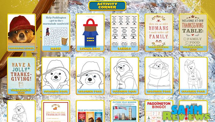 Lots of fun Paddington activity and coloring sheets including printables. - SahmReviews.com #PaddingtonMovie