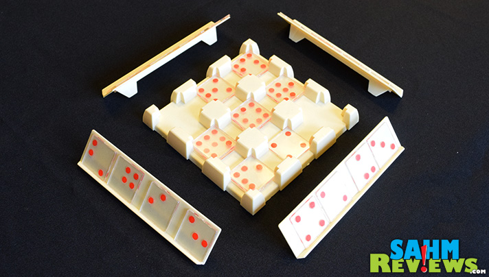 This week's Thrift Treasure is a version of Dominos that we had never seen before. Stack-Ominos by Pressman takes dominos to a whole new level. - SahmReviews.com