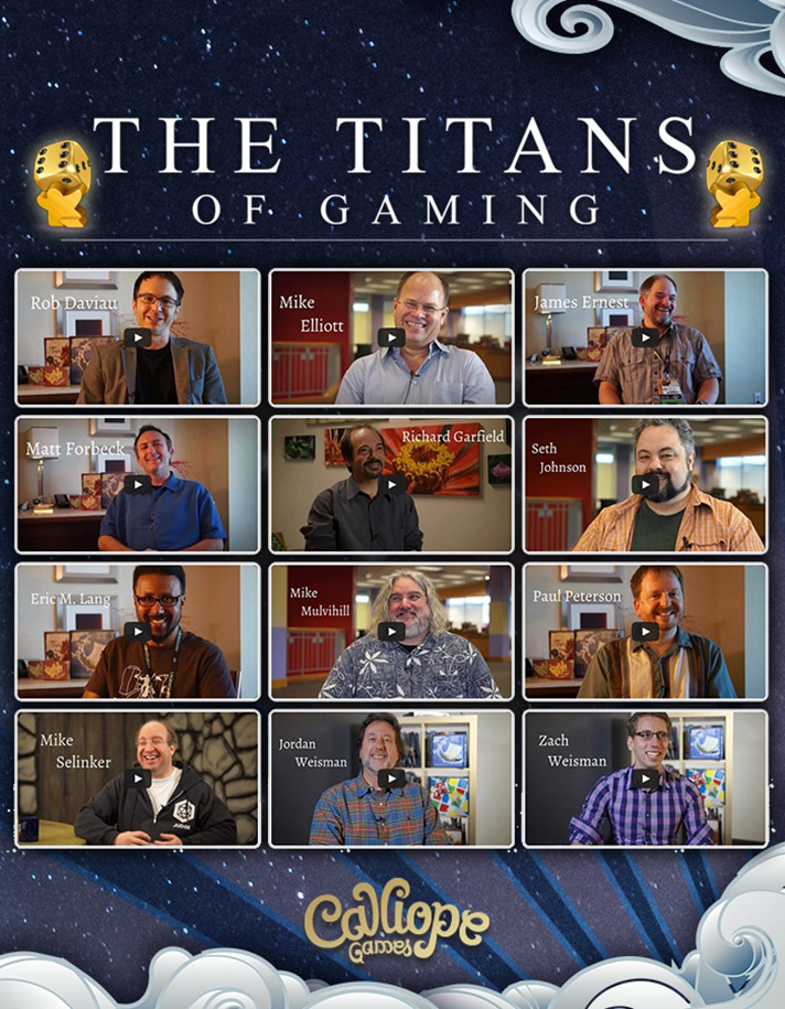 Be a part of board game history by participating in Calliope Games' latest endeavor - The Titan Series! 9+ games from 9+ designers that you help design! - SahmReviews.com