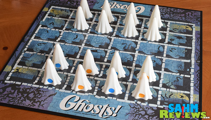 This week's Thrift Treasure game is an 80's classic from Milton Bradley - Ghosts! Get your ghost out the door before your opponent catches you! - SahmReviews.com