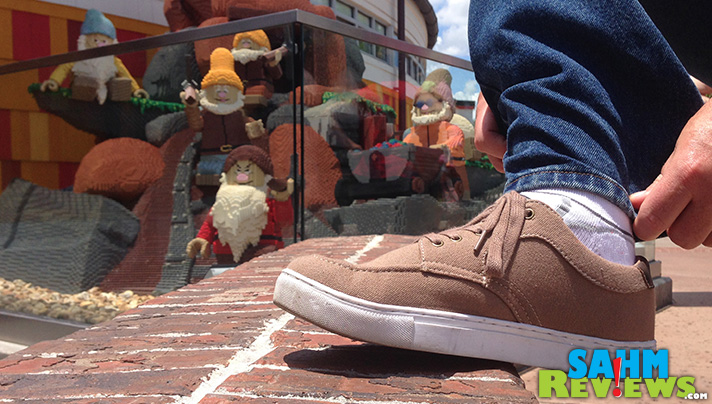 I needed a new pair of shoes for Disney that were both comfortable and professional-looking. These new Lugz Habit W.C. sneakers boasted memory foam insoles. - SahmReviews.com