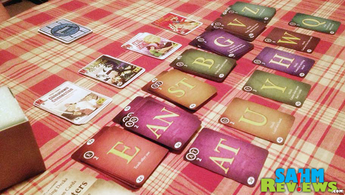 The new Paperback Game is a mix of Scrabble and Dominion. It's a deck-builder that has less to do with luck and more to do with your word vocabulary. - SahmReviews.com