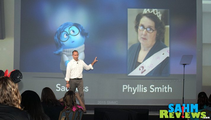 Phyllis Smith voices Sadness in Pixar's Inside Out movie. - SahmReviews.com #InsideOutEvent #DisneySMMC