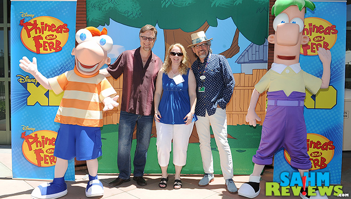"""Dan Povenmire & Jeff """"Swampy"""" Marsh are creative, amazing guys. Then I asked a question that made me cry. - SahmReviews.com #PhineasandFerbEvent"""
