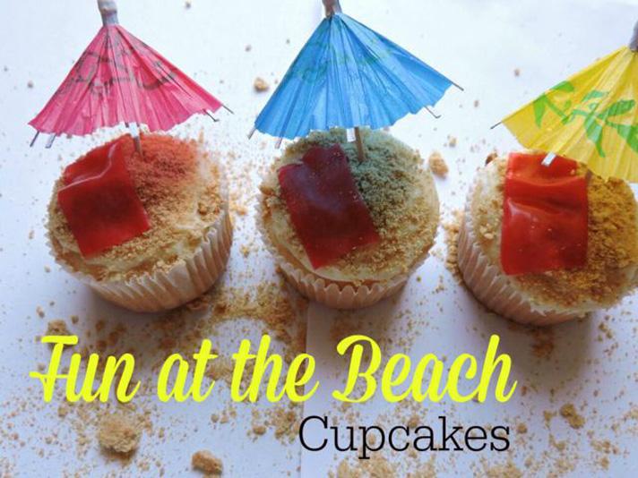 Create fun recipes for a Teen Beach 2 Viewing Party - Beach Cupcakes - SahmReviews.com #TeenBeach2Event #InsideOutEvent